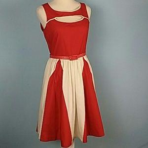 ModCloth Bea & Dot Fit & flare rockabilly dress